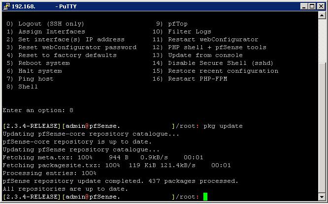 pfSense - Atualizando pacotes
