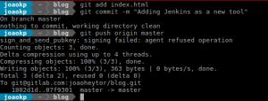 Comitando mudanças feitas no arquivo index.html